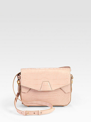 Alexander Wang Croc-Embossed Trifold Shoulder Bag