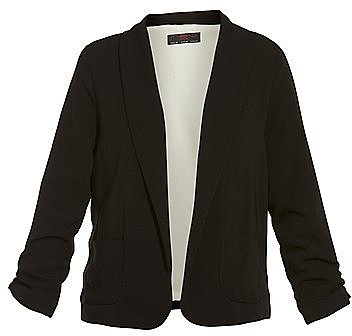Black Draped Pocket Blazer