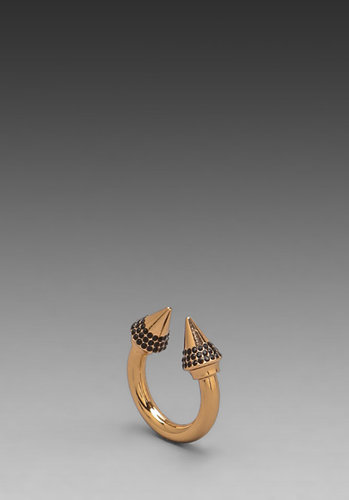 Vita Fede Titan Color Crystal Ring in Rosegold/Black