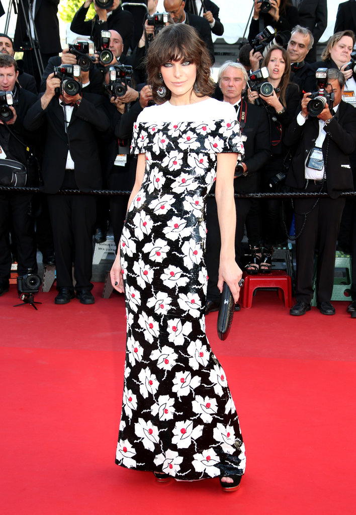 Milla Jovovich wore Spring 2013 Chanel Couture at the Cannes premiere of Blood Ties.