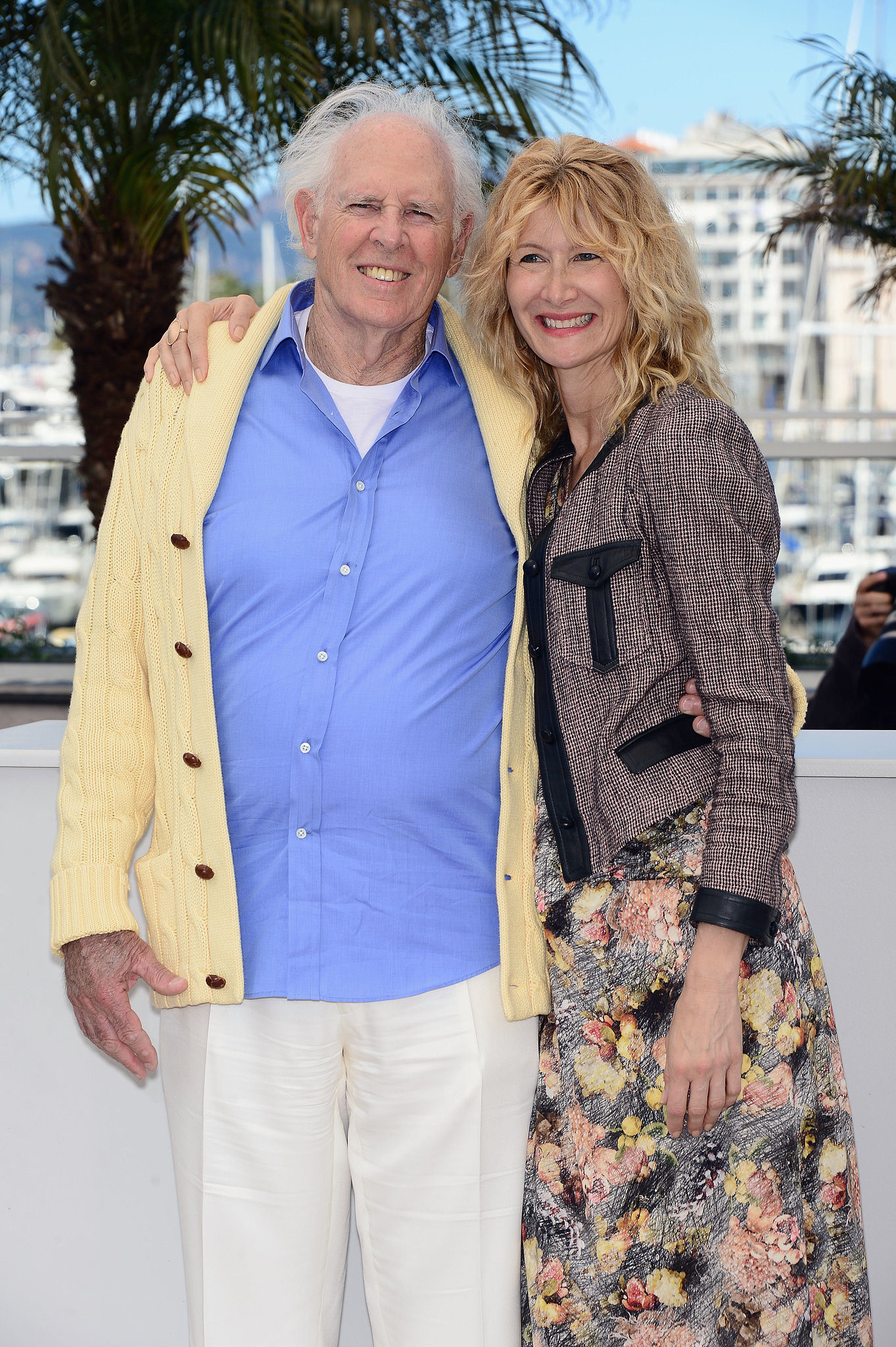 Laura Dern and her dad, Bruce Dern, smiled at a photocall for Nebraska on Thursday in Cannes.