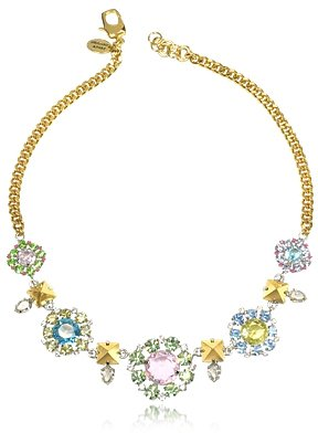 Juicy Couture / ジューシークチュール Rhinestone Flower Bib Necklace