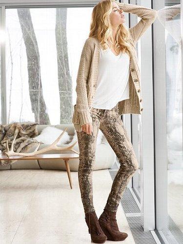 VS Siren Legging Jean in Python-print