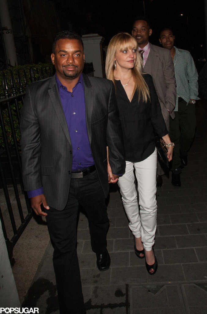 Alfonso Ribeiro (aka Carlton from The Fresh Prince of Bel-Air) walked with Will Smith to a club in London.