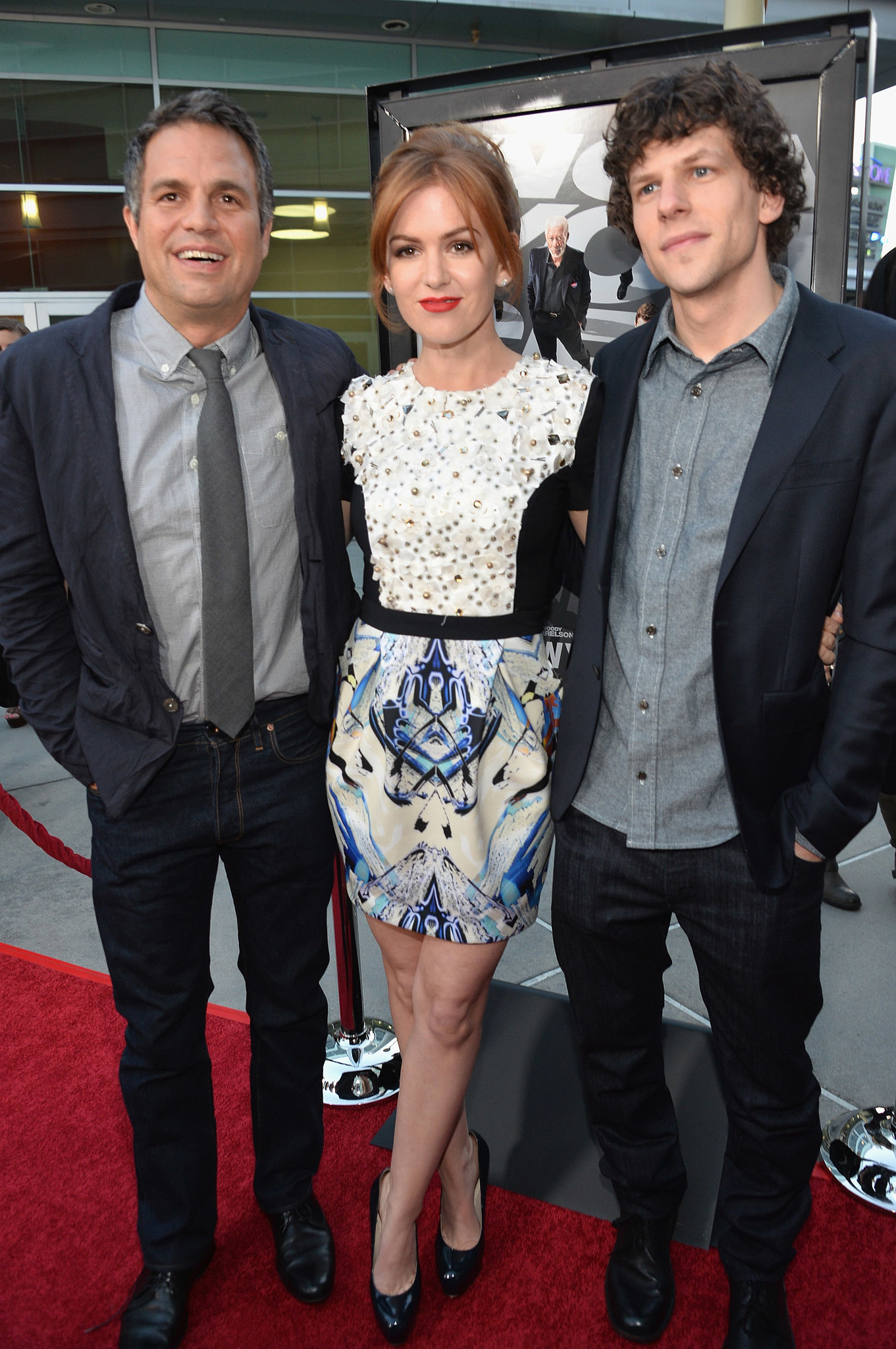 Mark Ruffalo, Isla Fisher, and Jesse Eisenberg attended the LA premiere of their new film.