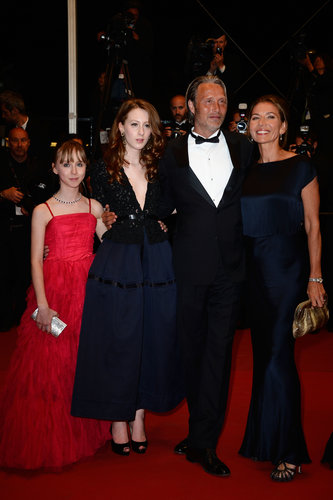Melusine Mayance, Roxane Duran, Mads Mikkelsen, and Hanne Jacobsen arrived at Friday night's Michael Kohlhaas premiere.