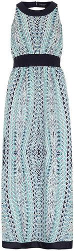 Blue tribal maxi dress