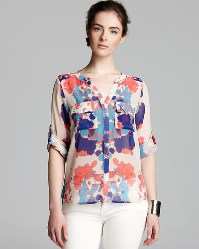 Aqua Blouse - Dexter Button Down