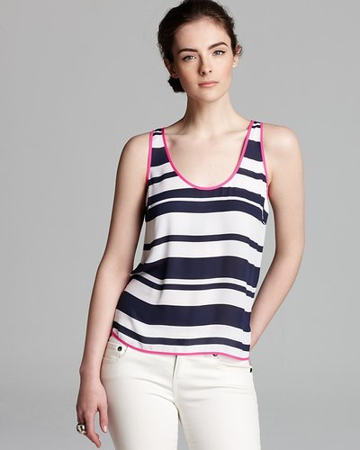 Aqua Tank - Striped High Low