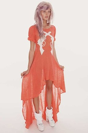 Wildfox Couture Annie Hankshaw Maxi Dress in Canyon Coral