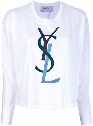 Saint Laurent Branded Longsleeved T-Shirt