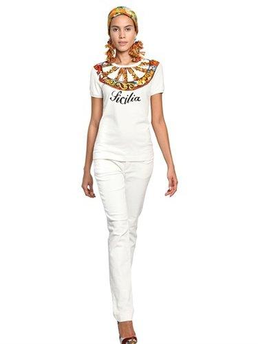 Dolce & Gabbana - Sicilia Printed Cotton Jersey T-Shirt