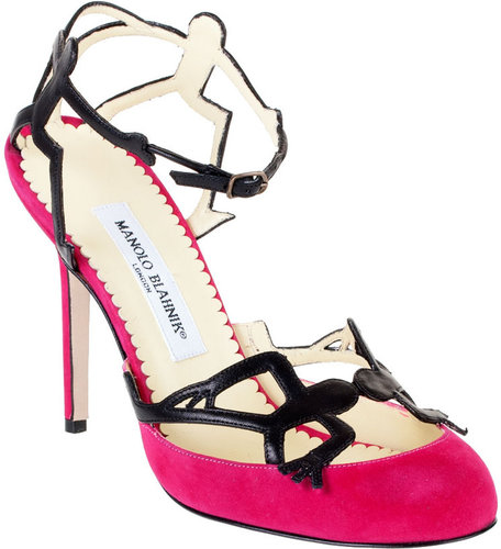 Manolo Blahnik Bohu suede and leather sandal