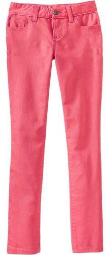 Girls Super Skinny Pop-Color Jeans