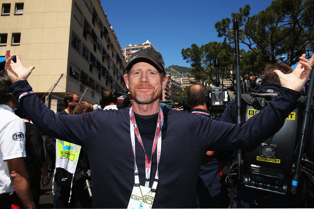 Ron Howard mingled with the crowds at the Grand Prix.