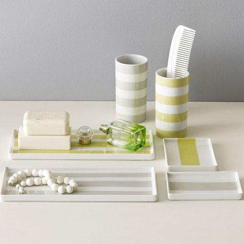 Porcelain Stripe Trays