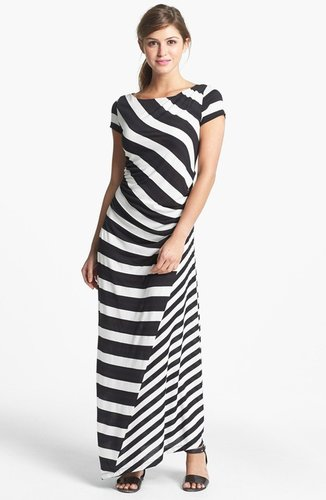 DKNYC Stripe Maxi Dress