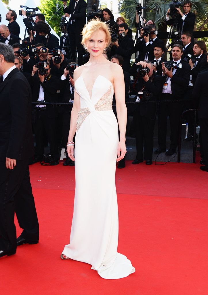 A sexy white dress helped round out a very fashionable Cannes for Nicole Kidman, whose closing ceremony sparkle came courtesy of Harry Winston.