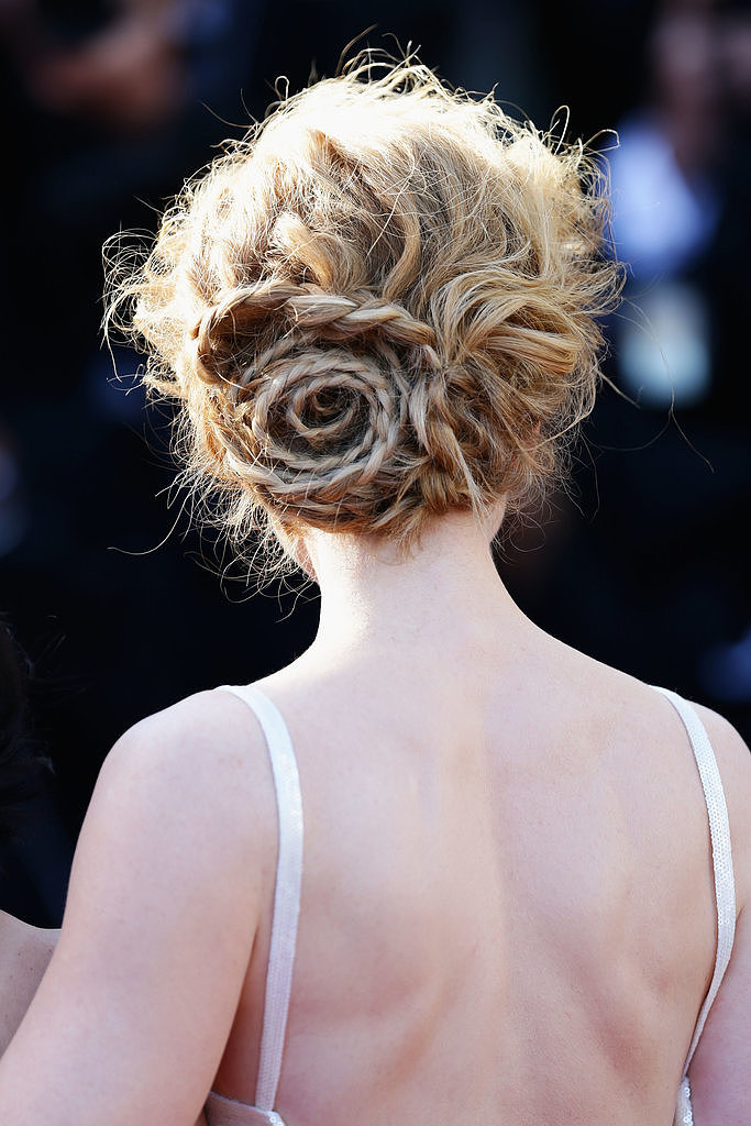 Nicole Kidman's braided chignon was a show stopper on the red carpet.