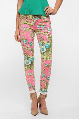 Tripp NYC Pink Paradise Flower Jean