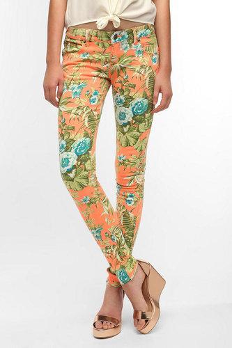 Tripp NYC Orange Paradise Flower Jean