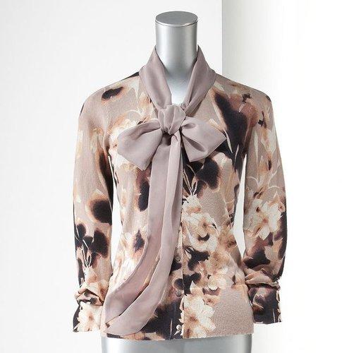 Simply vera vera wang floral cardigan