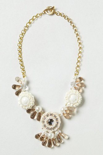 Winter Blossoms Bib Necklace