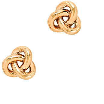 Golden knot earrings