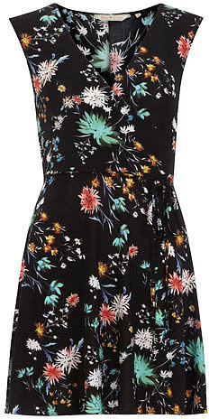 Billie & Blossom Floral slinky wrap dress