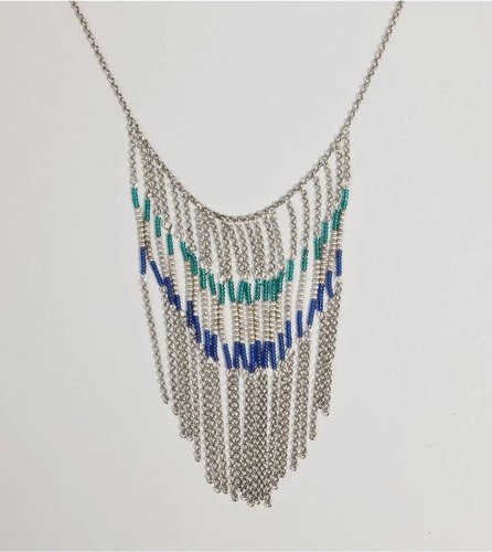 AEO Chain Fringe Necklace