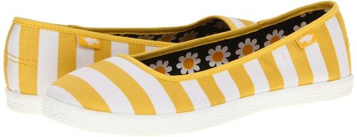 Rocket Dog - Pippie (Yellow Cafe Stripe) - Footwear