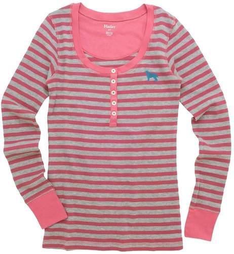 Hatley Thermal Henley Shirt - Long Sleeve (For Women)