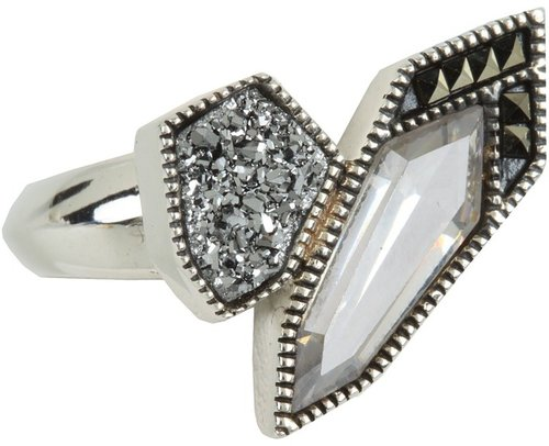 Judith Jack - Color Cascade Ring (Black) - Jewelry