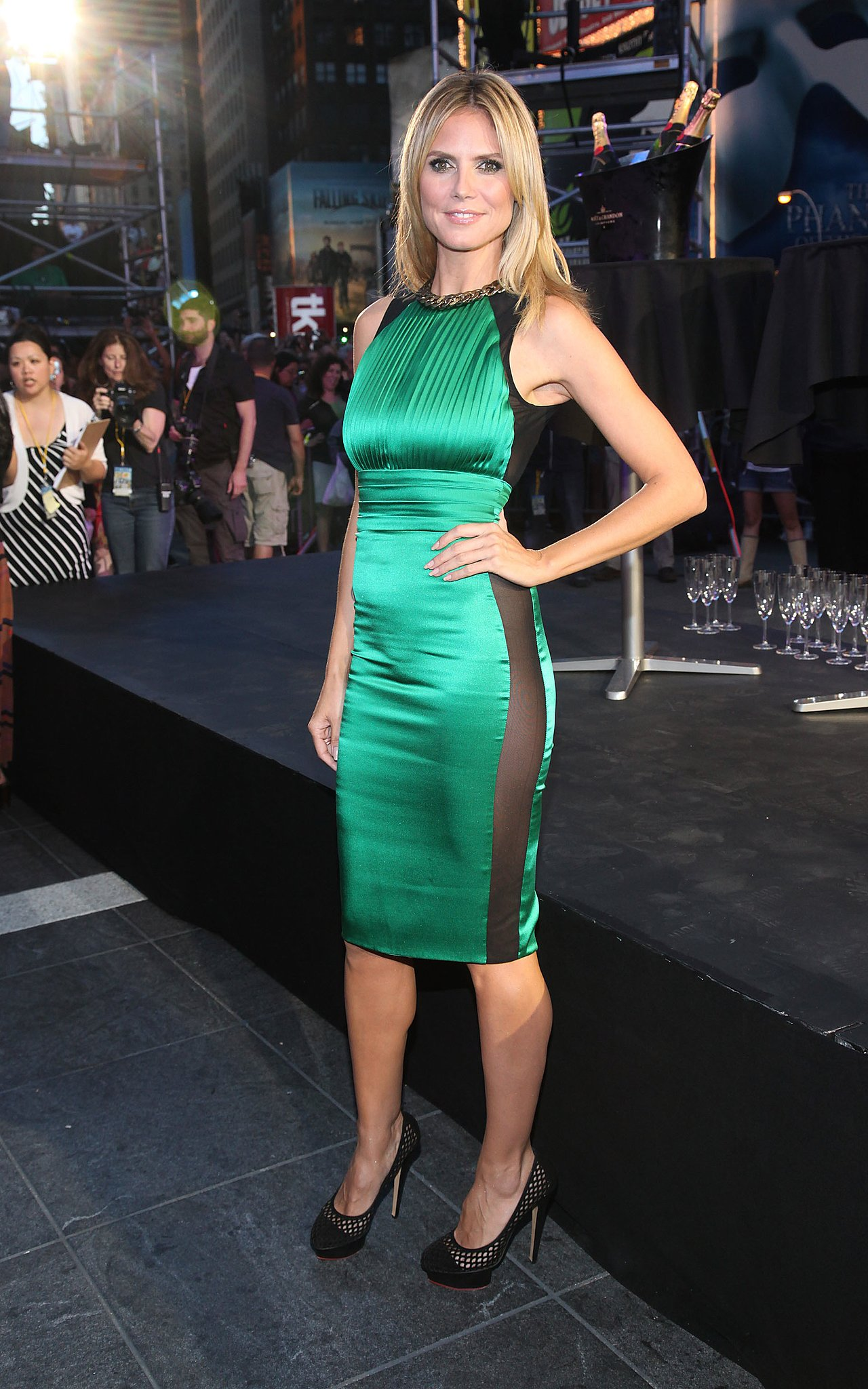 Heidi Klum in an Emerald Thomas Wylde at a 2012 Project Runway Event