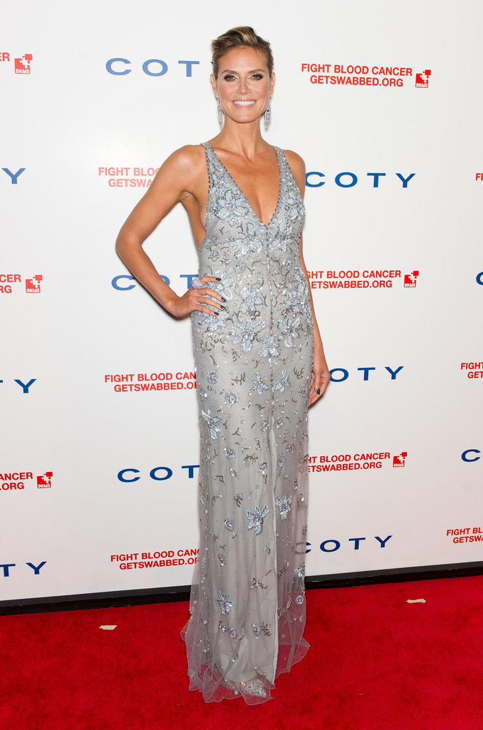 Heidi Klum in a Floral Temperley London at a 2012 Gala