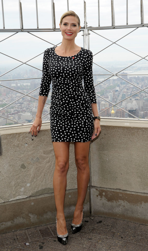 Heidi Klum in a Polka-Dot Dolce & Gabbana in 2012