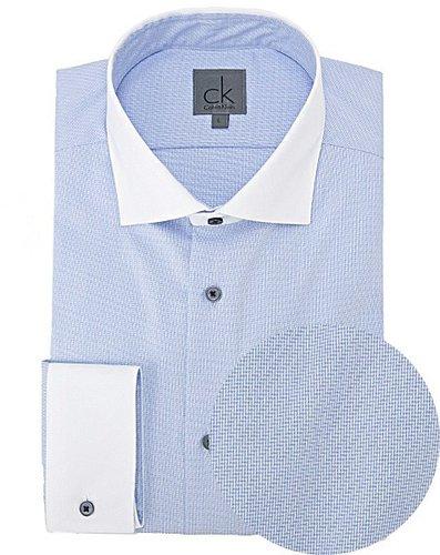 [ck カルバン・クライン]バイカラーダイヤゴナルシャツ(C)FDB
