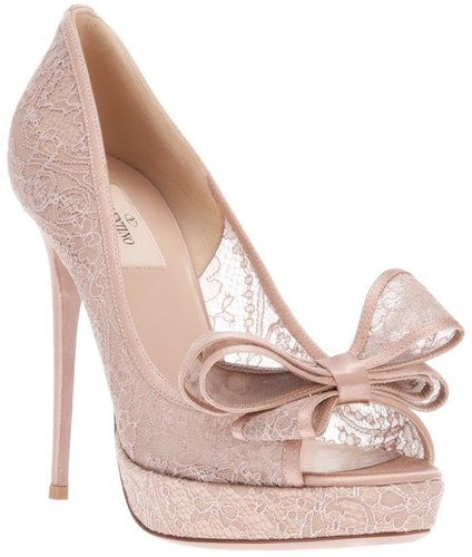 Valentino Garavani lace stiletto pump
