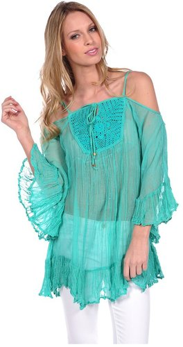 Vintage Havana Crochet Knit Cover Up