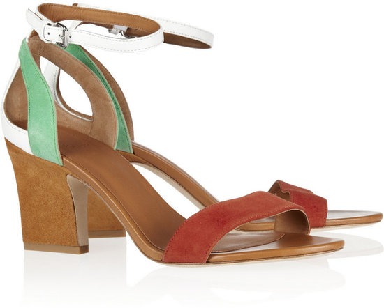 Marc by Marc Jacobs Color-block suede and leather sandals