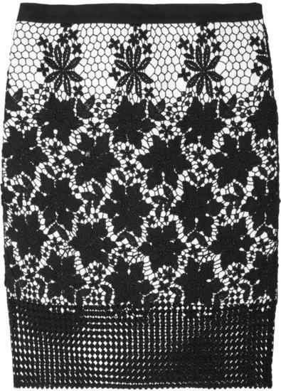 Tibi Basia cotton-lace pencil skirt