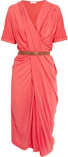 Donna Karan Draped stretch-crepe dress