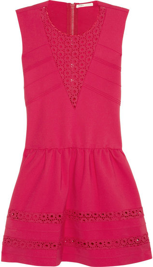 Maje Acrobate stretch-crepe jersey mini dress