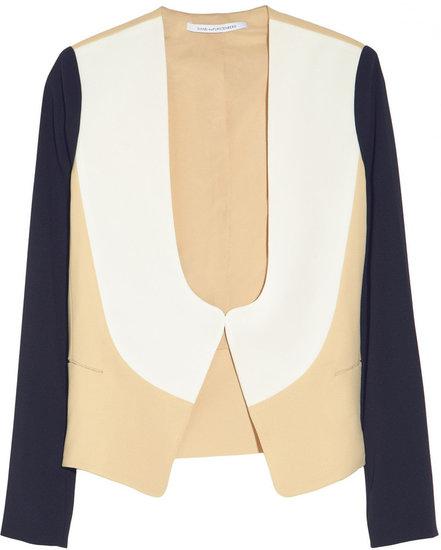 Diane von Furstenberg Ferhia color-block crepe-jersey jacket