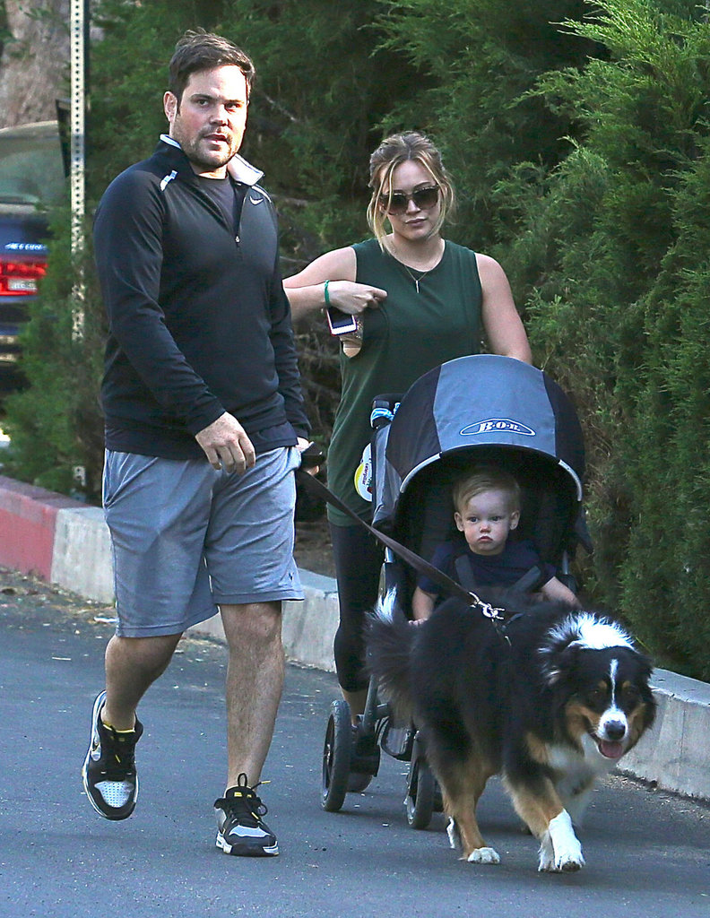 Hilary Duff and Mike Comrie took their family for a walk in LA.