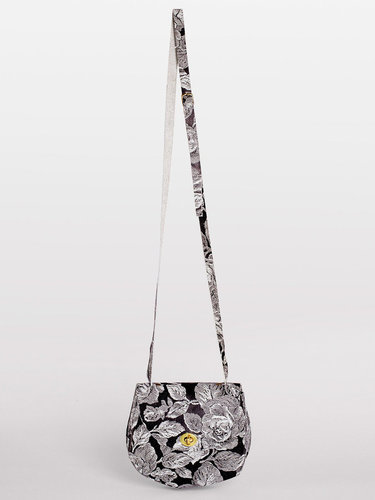 Printed Leather Cross Body Satchel
