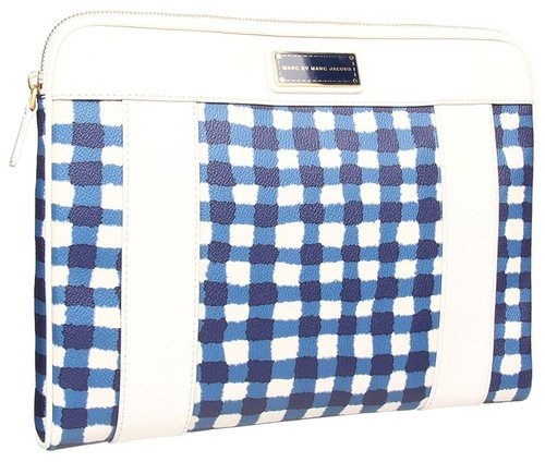 Marc by Marc Jacobs - Marc'd Check'd Printed 13 Computer Case (White Birch Multi) - Bags and Luggage