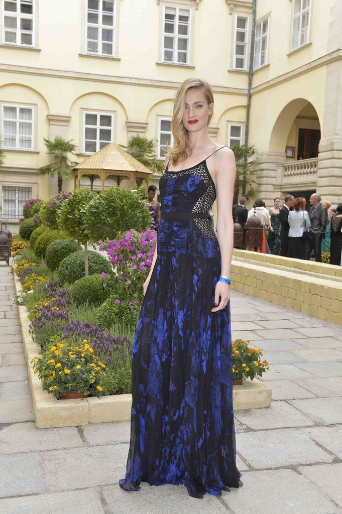 Eva Riccobono wore Roberto Cavalli at the 2013 Life Ball in Vienna, Austria. Photo courtesy of Roberto Cavalli