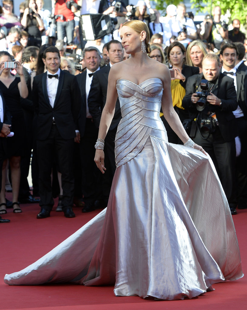 Uma Thurman at the Cannes premiere of Zulu.