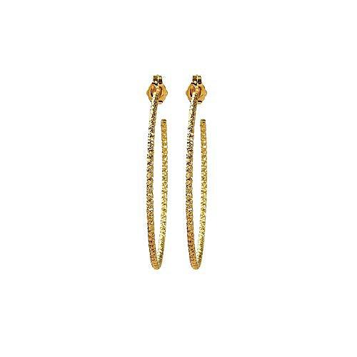 medium karma sparkle hoop earrings, gold dipped